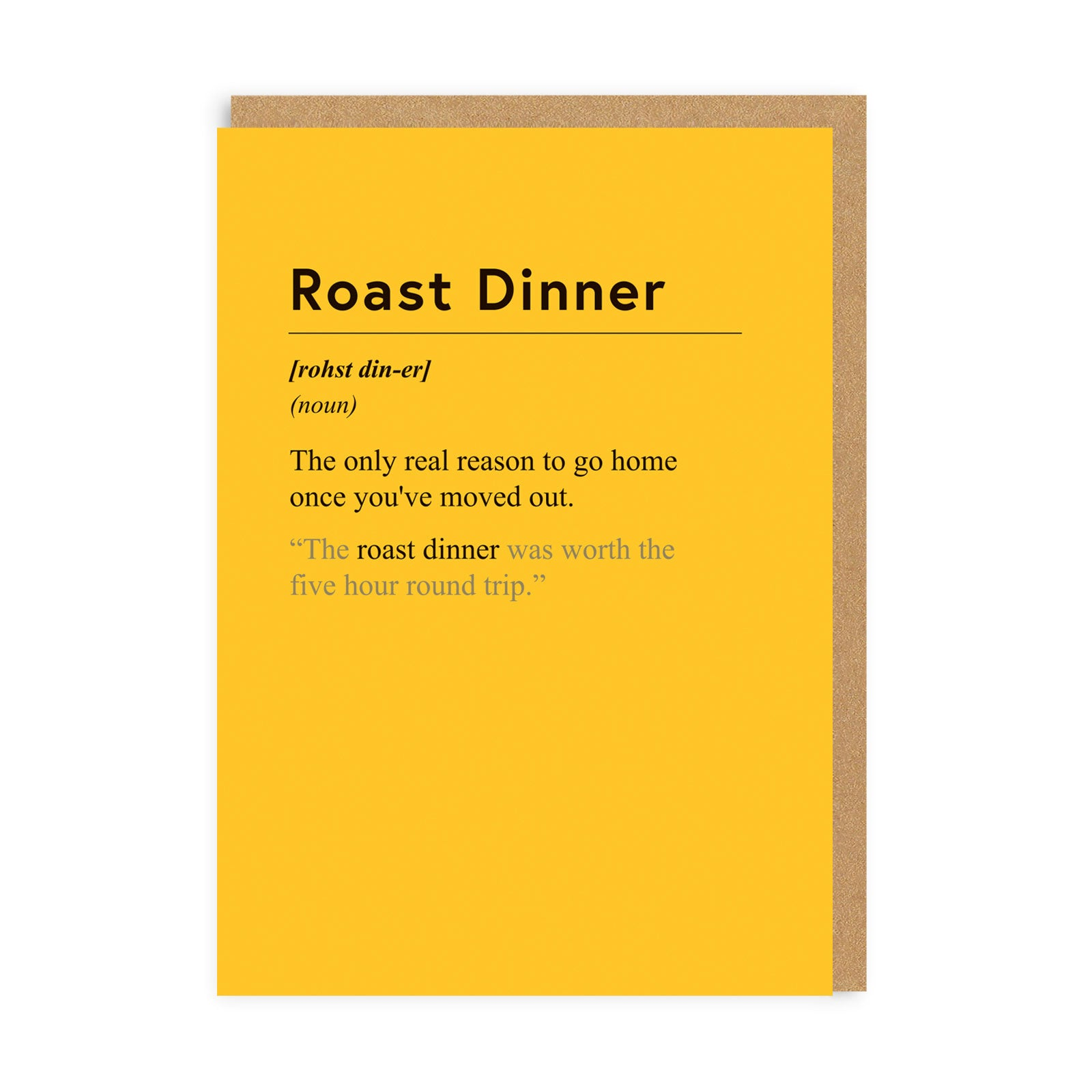Roast Dinner Greeting Card