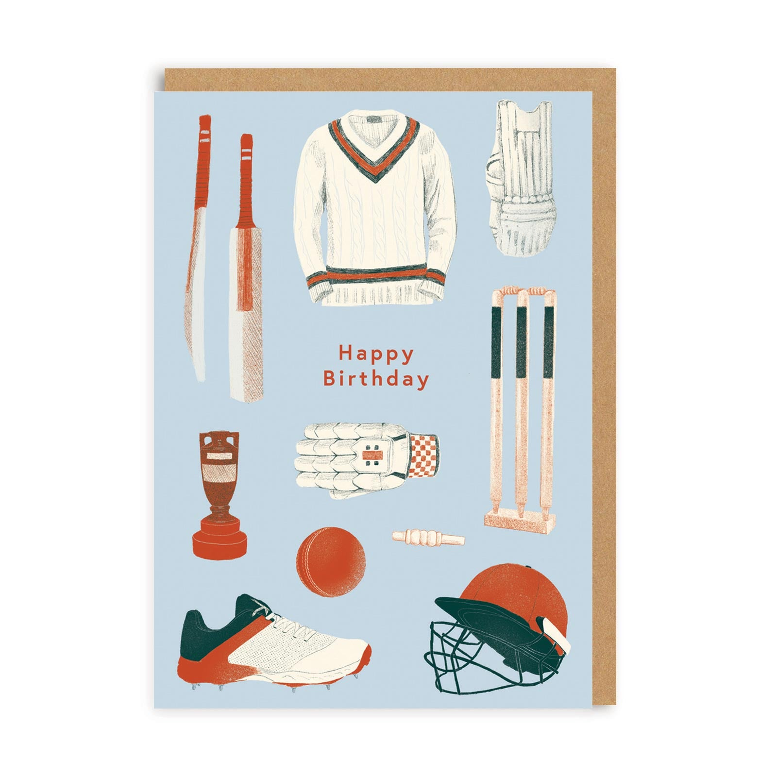 Happy Birthday Cricket Greeting Card