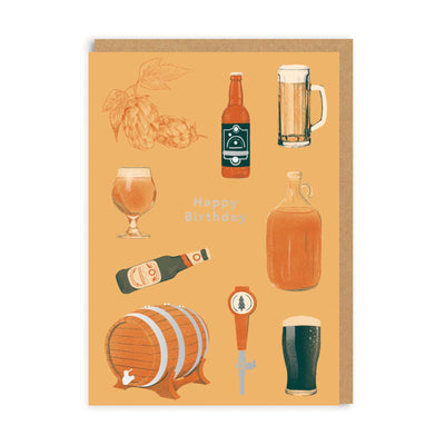 Happy Birthday Beer Greeting Card