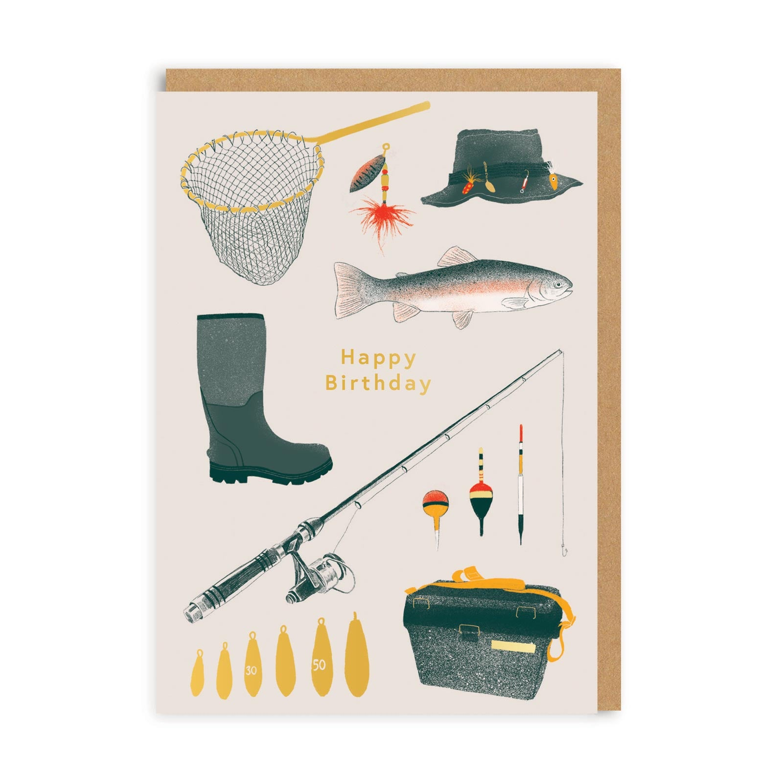 Happy Birthday Fishing Greeting Card