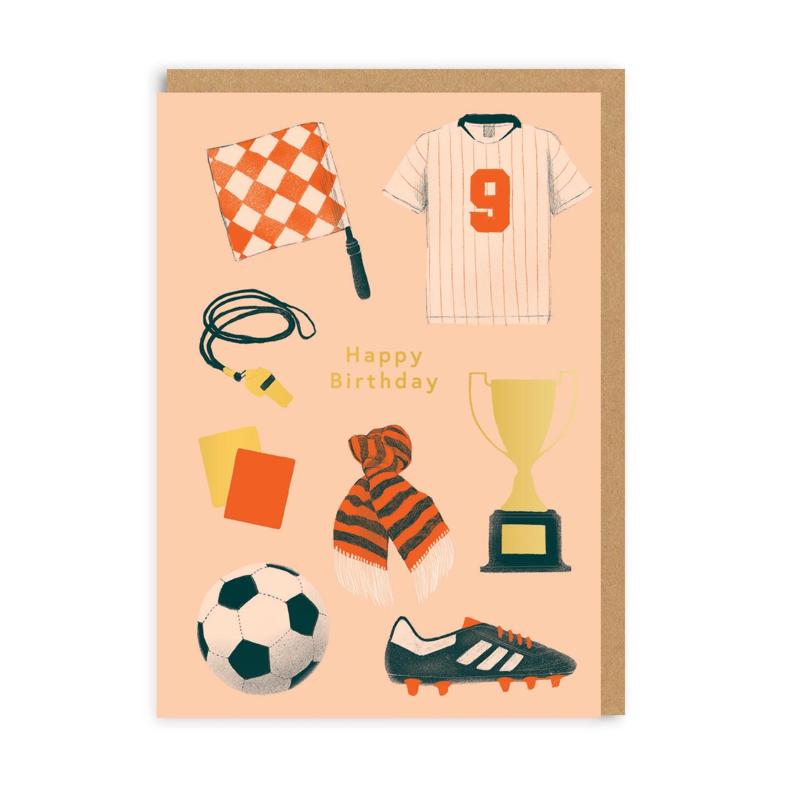 Happy Birthday Football Greeting Card