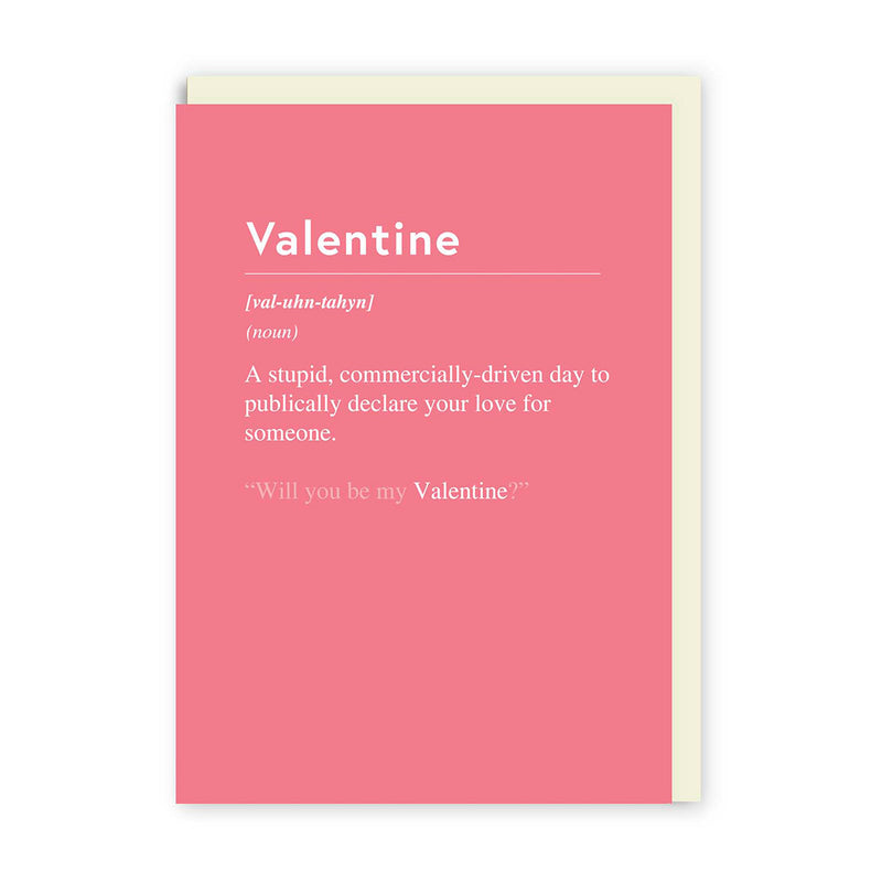 Valentine, Commercially Driven Day Greeting Card