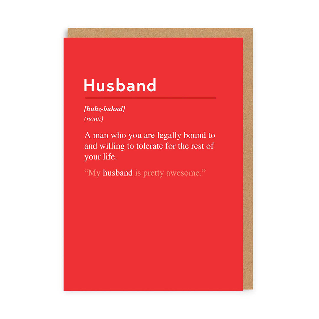 Husband, Willing To Tolerate Greeting Card