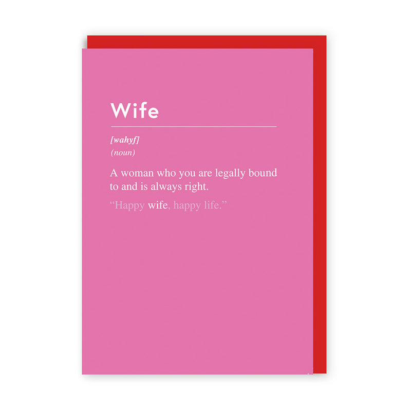 Wife, Always Right Greeting Card