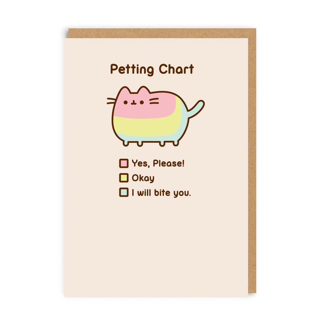Petting Chart Greeting Card