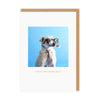 Dad Googly Eyed Dog Greeting Card