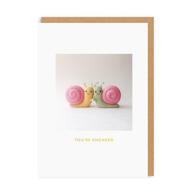 Engaged Snails Greeting Card