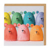 Rainbow Bears Square Greeting Card