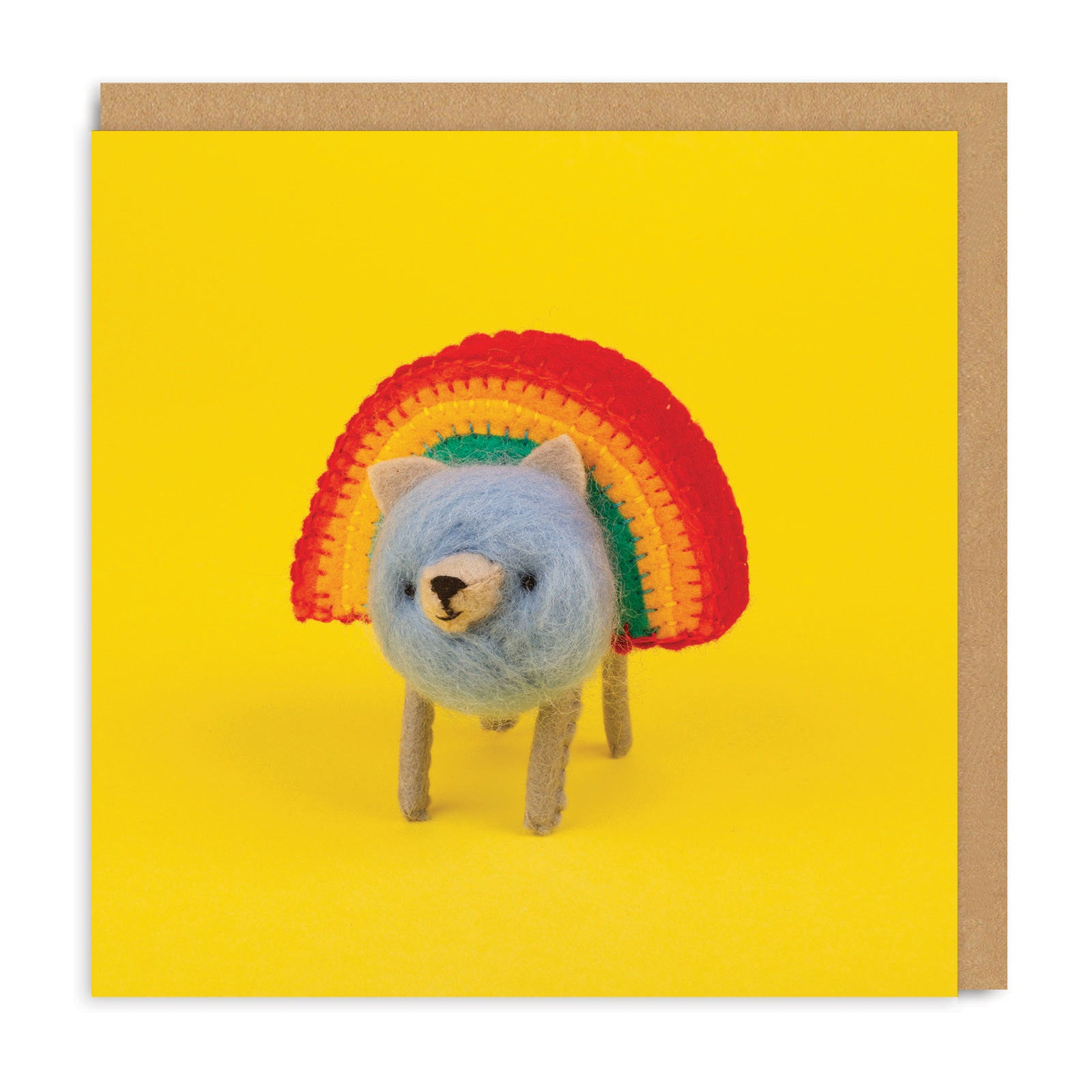 Rainbear Square Greeting Card