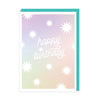 Happy Birthday Star Burst Greeting Card