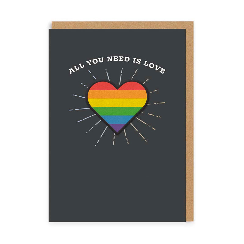 All You Need is Love, Rainbow Heart Woven Patch Card