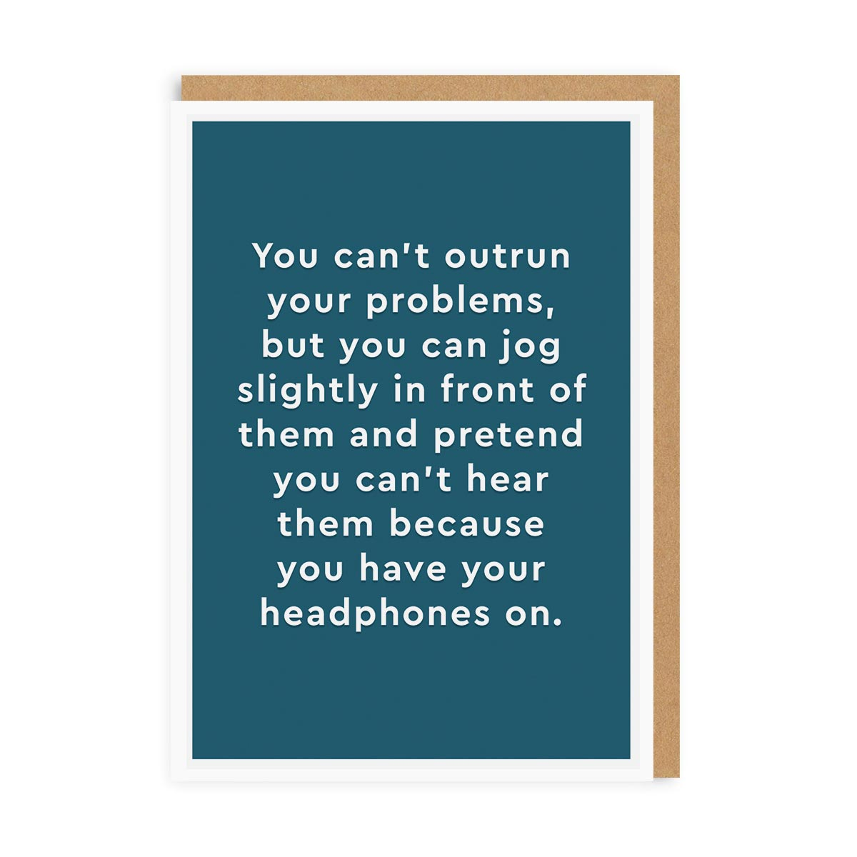 Headphones Greeting Card