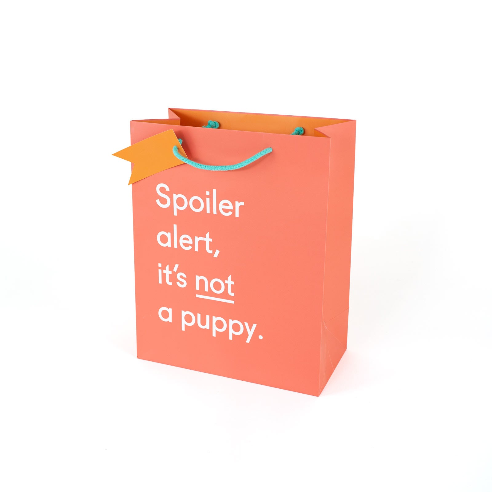 Spoiler Alert Puppy Large Giftbag