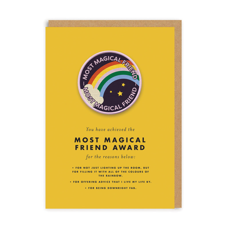 Most Magical Friend Woven Patch Greeting Card