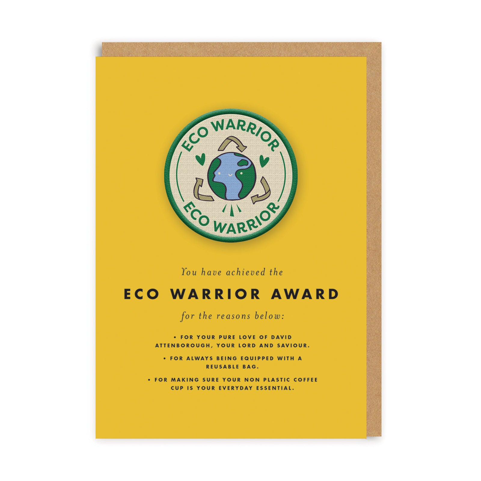 Eco Warrior Woven Patch Greeting Card
