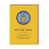 Best Dad Woven Patch Greeting Card