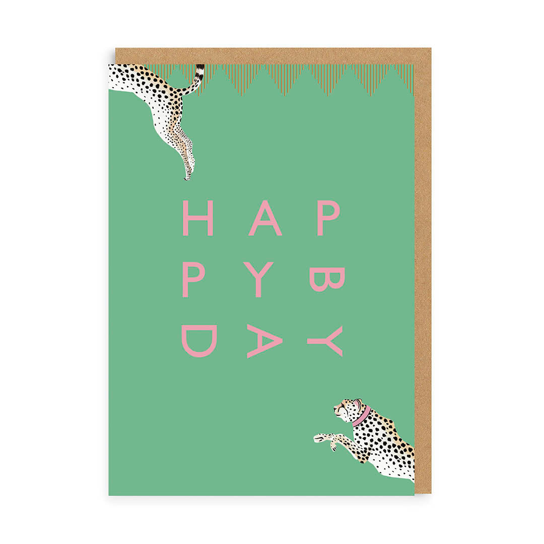 Happy Birthday Cheetah Greeting Card