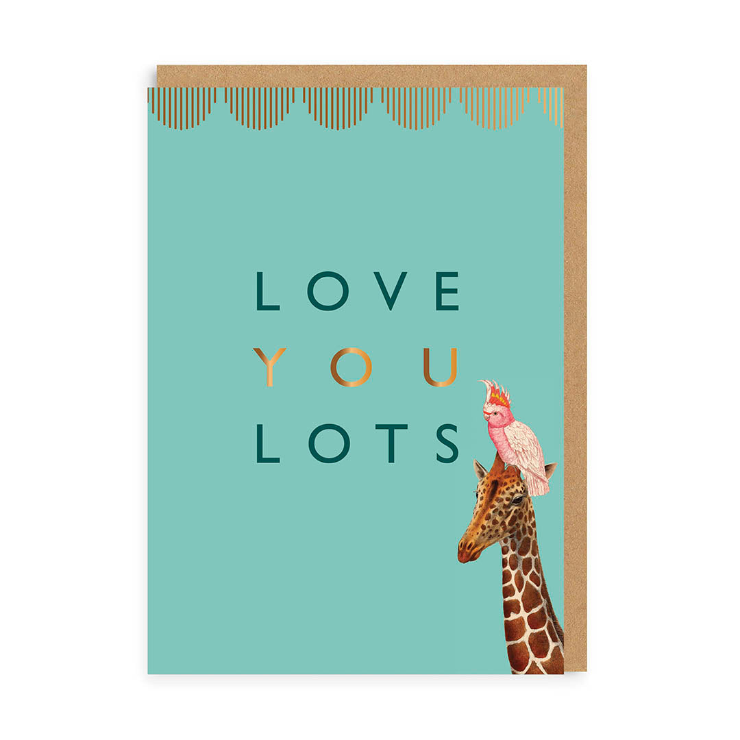 Love You Lots Giraffe Greeting Card