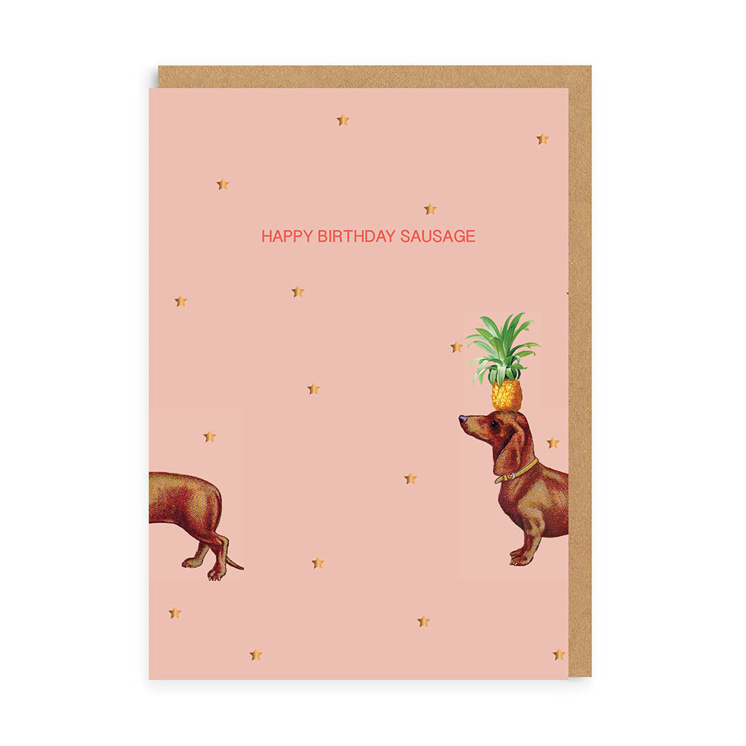 Happy Birthday Sausage Greeting Card