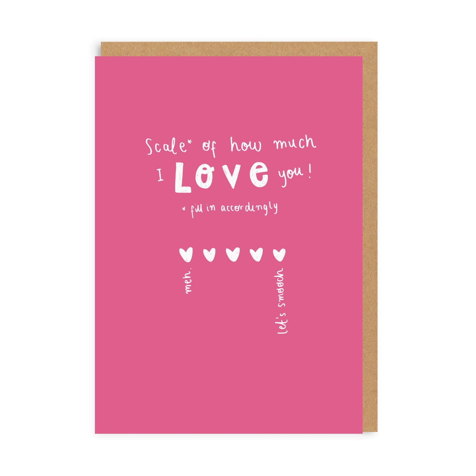 Scale Of How Much I Love You Greeting Card