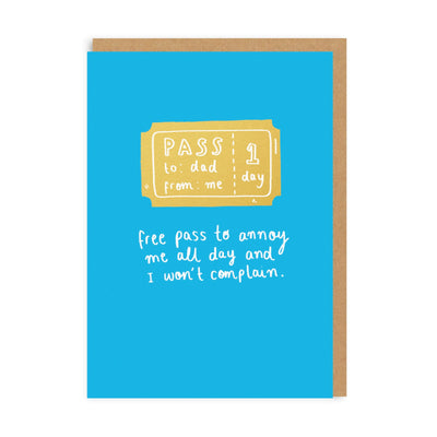 Annoyance Pass Greeting Card