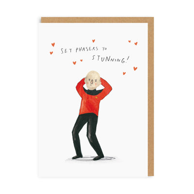 Set Phasers To Stunning Greeting Card