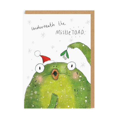 Underneath The Mistletoad Greeting Card