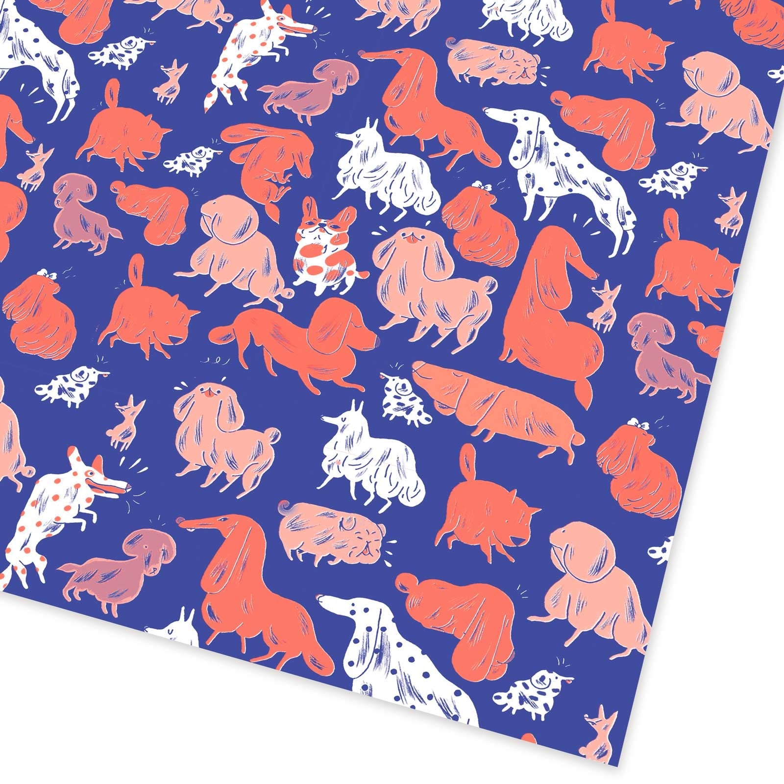 Dogs Flat Giftwrap