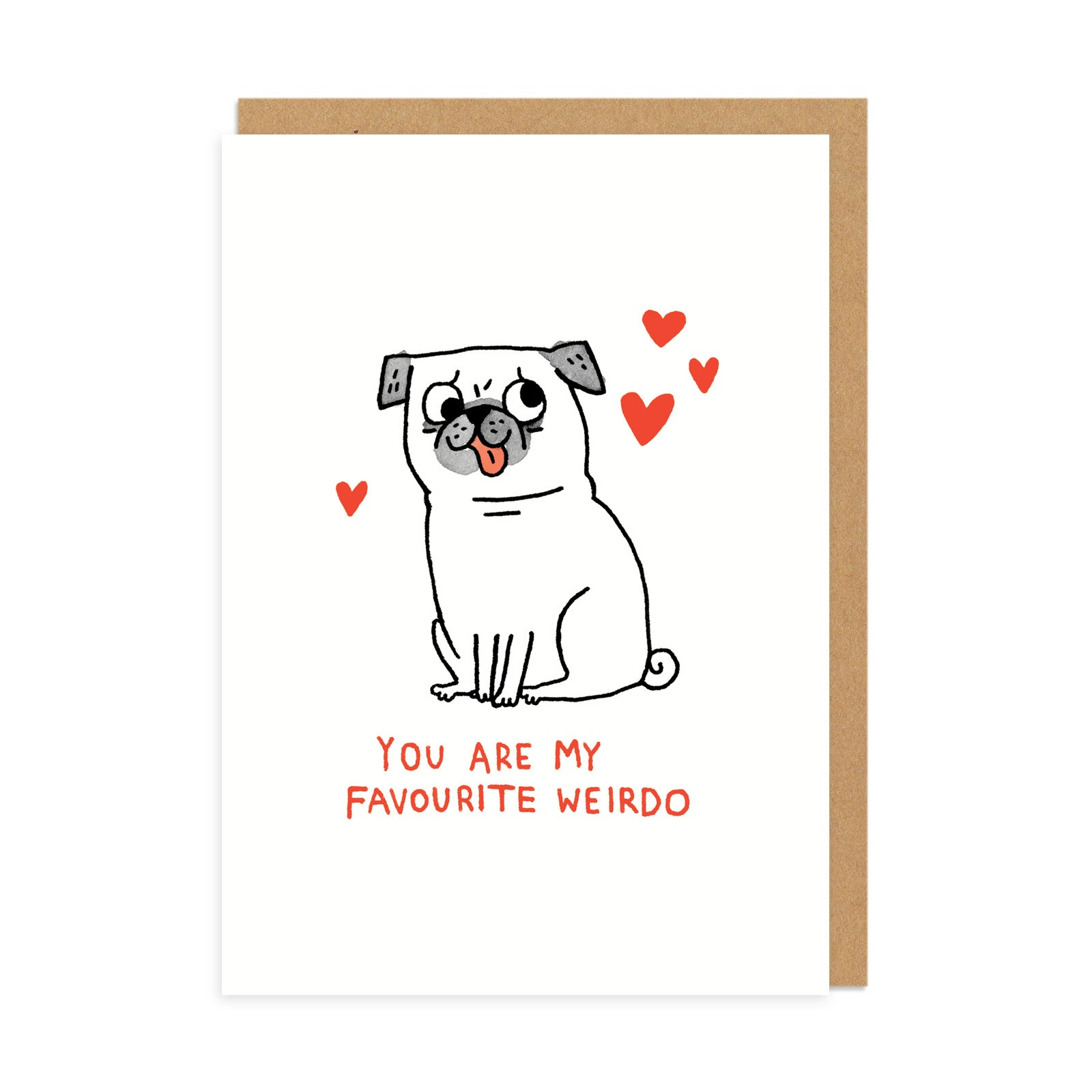 Favourite Weirdo Greeting Card