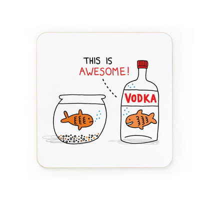 Vodka Goldfish Coaster