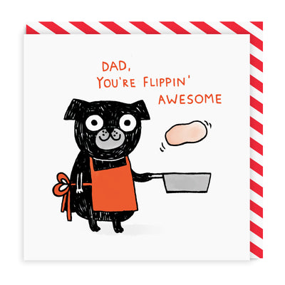 Flippin' Awesome Dad Square Greeting Card
