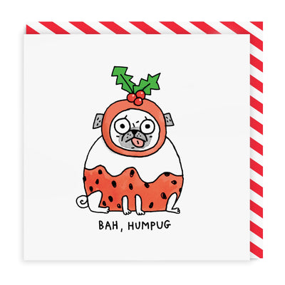 Bah Humpug Square Greeting Card