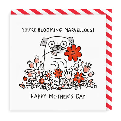 Blooming Marvellous Mum Square Greeting Card
