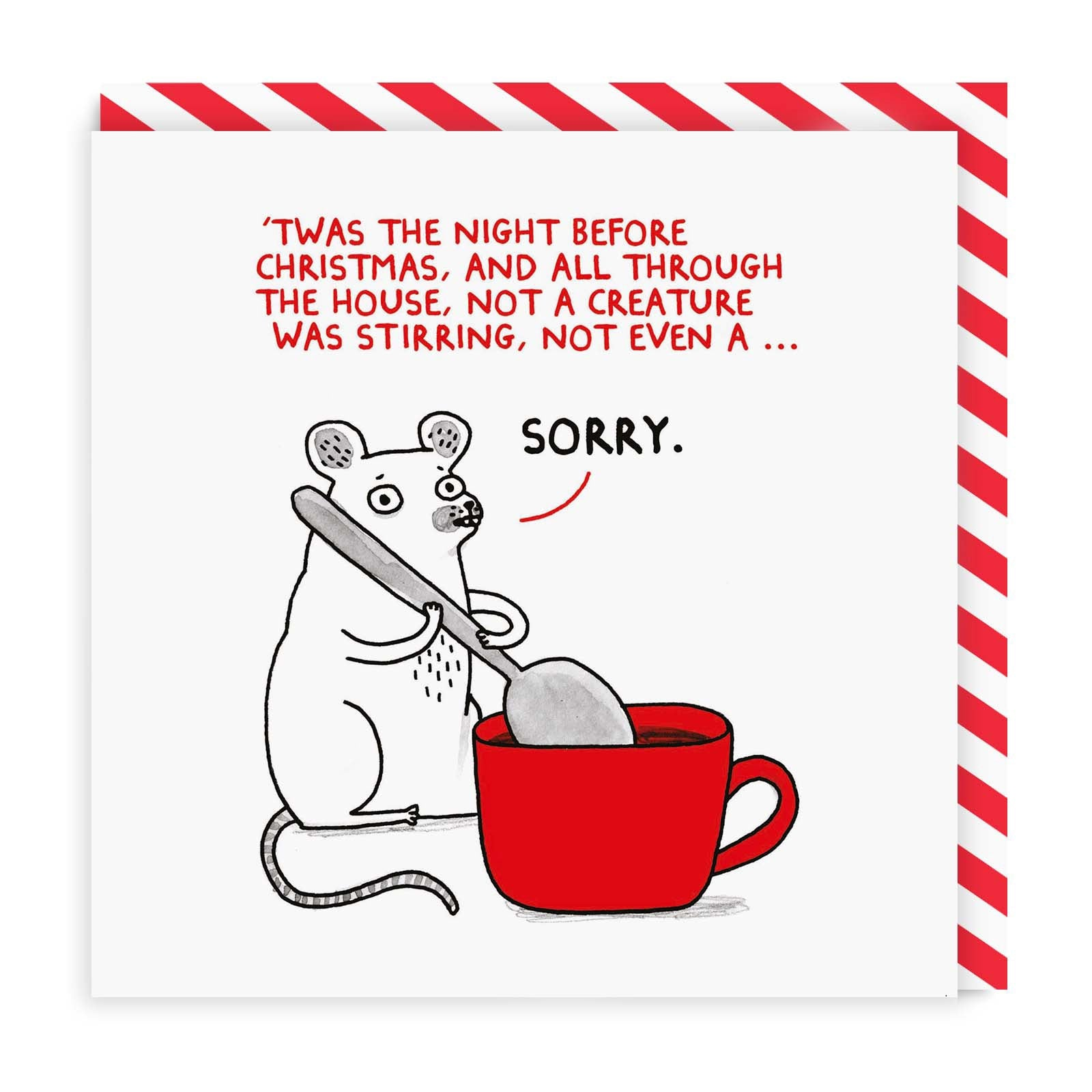 Twas The Night Before Christmas Square Greeting Card