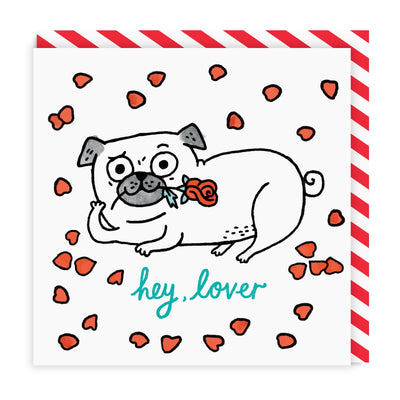 Hey Lover Square Greeting Card