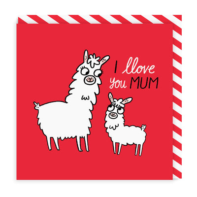 Llove You Mum Square Greeting Card