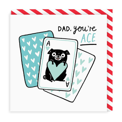 Dad You're Ace Square Greeting Card