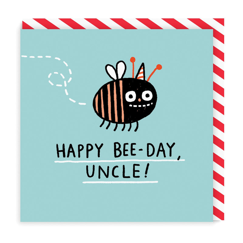Bee Day Uncle Square Greeting Card
