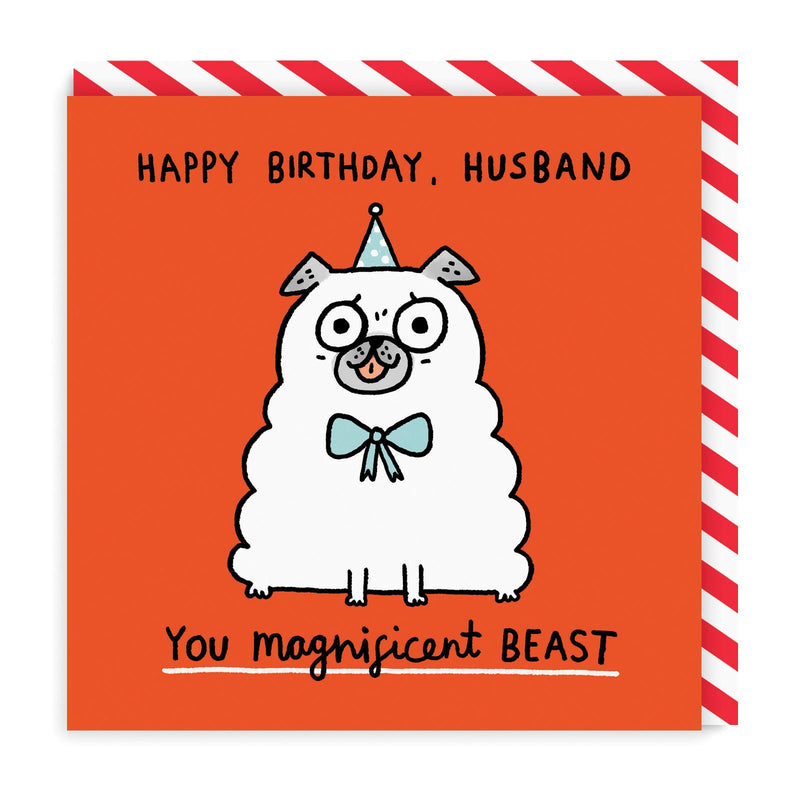 Magnificent Beast Square Greeting Card