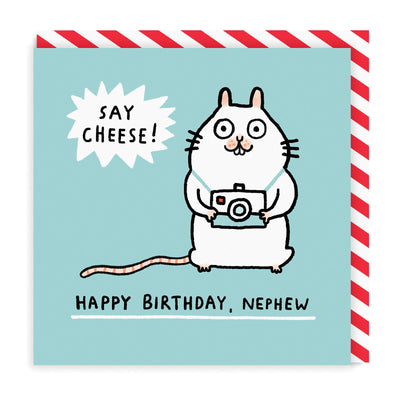 Mouse Nephew Square Greeting Card