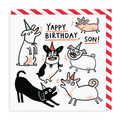 Yappy Birthday Son Square Greeting Card