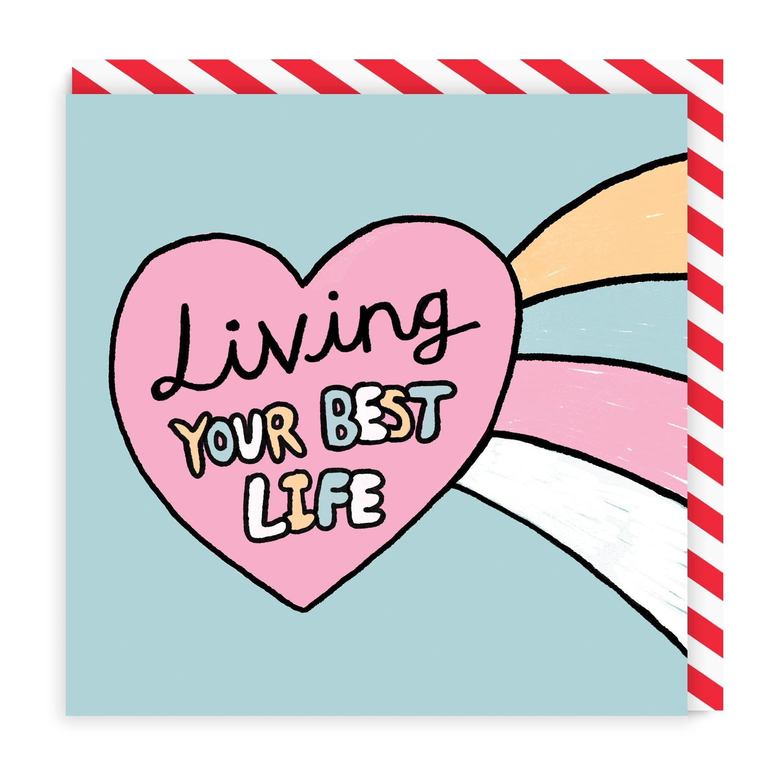 Living Your Best Life Square Greeting Card