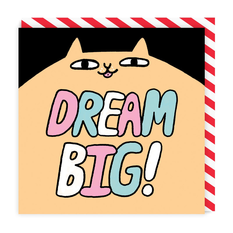 Dream Big Square Greeting Card