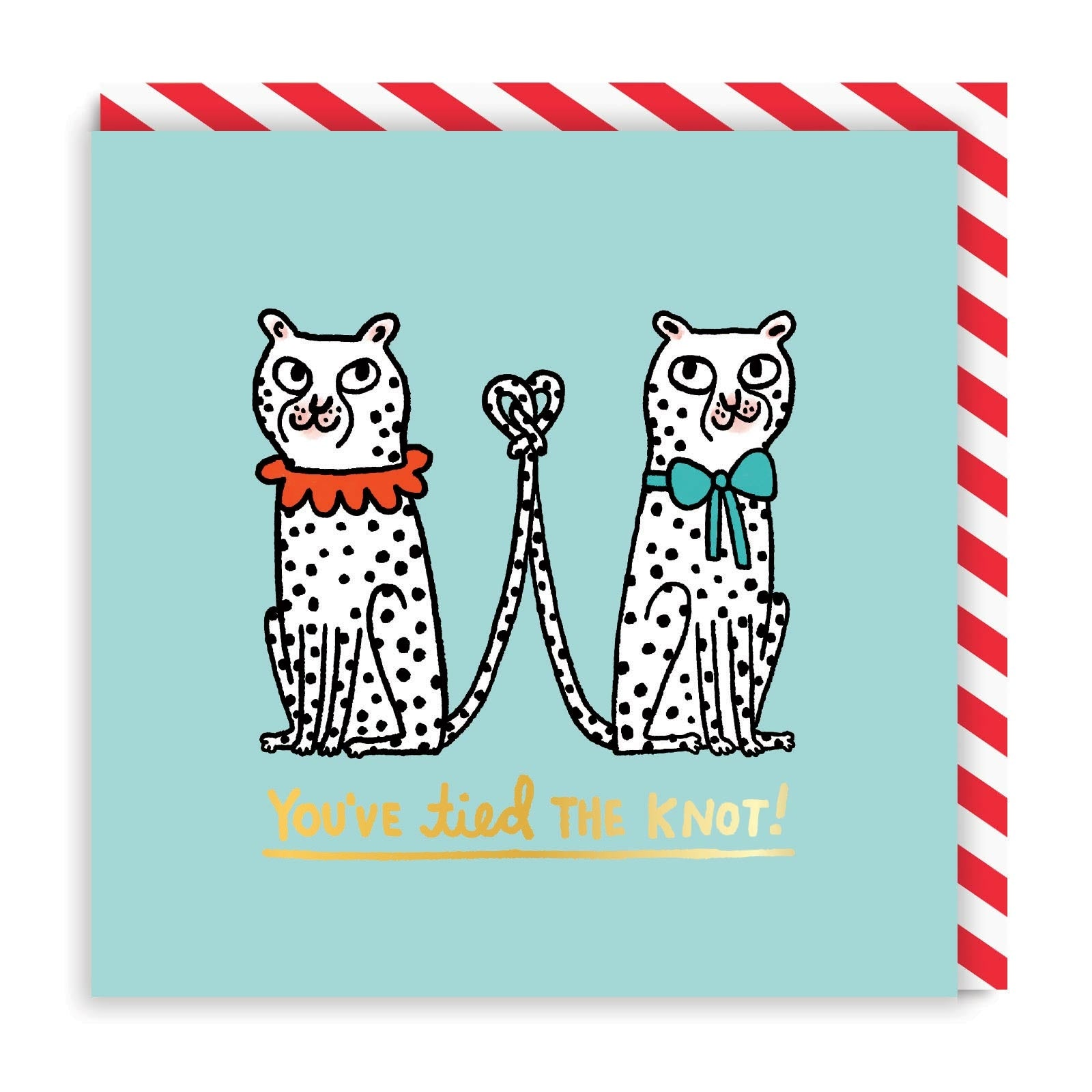 You've Tied The Knot Leopards Square Greeting Card