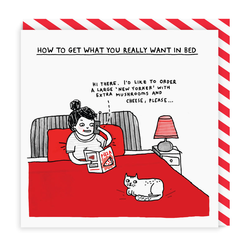 What You Want In Bed Square Greeting Card