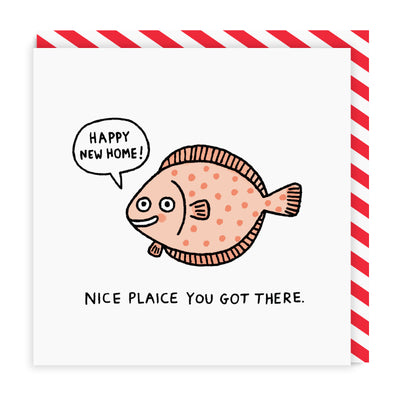 Nice Plaice Square Greeting Card