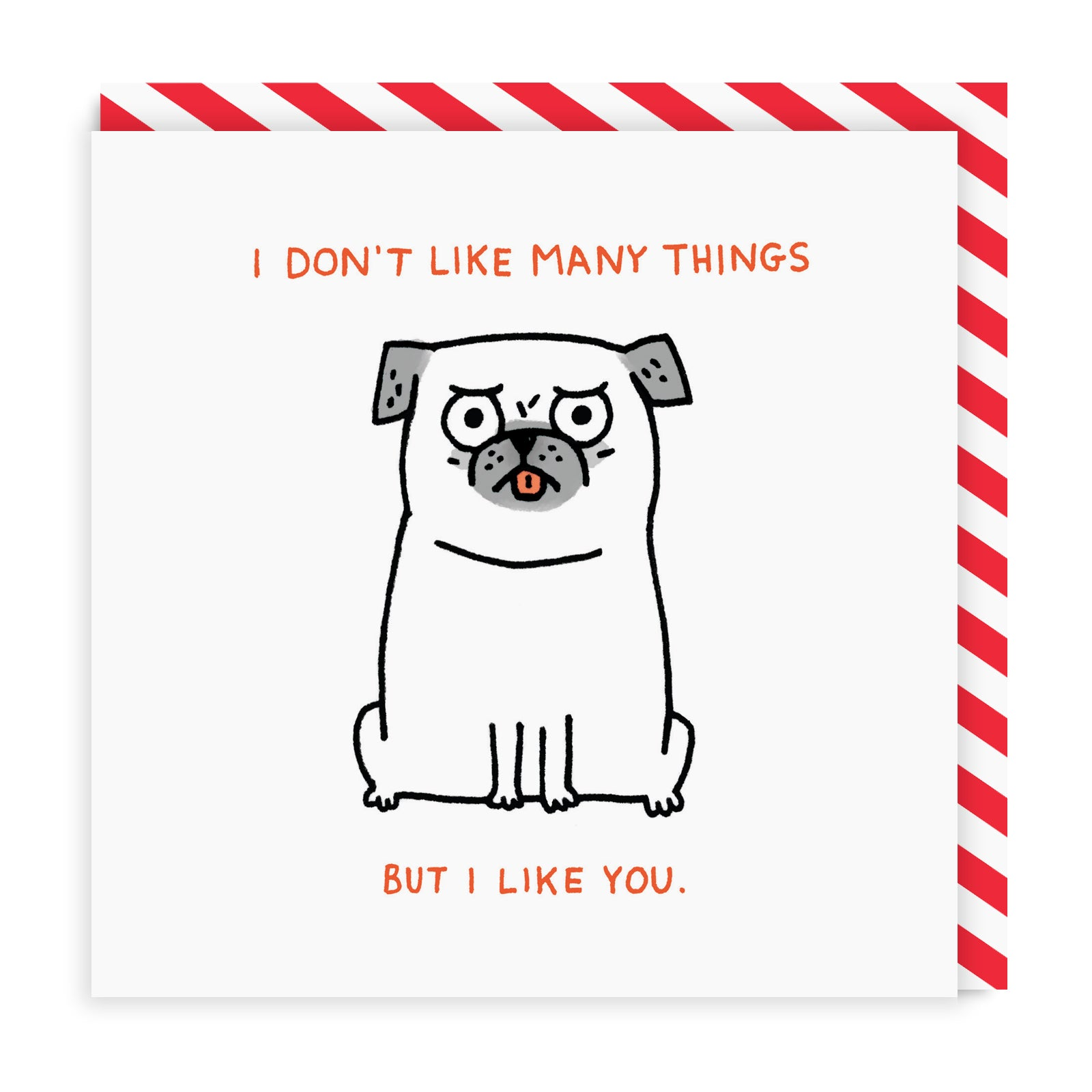 I Don't Like Many Things Square Greeting Card