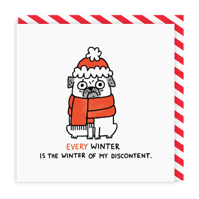 Winter of Discontent Square Greeting Card