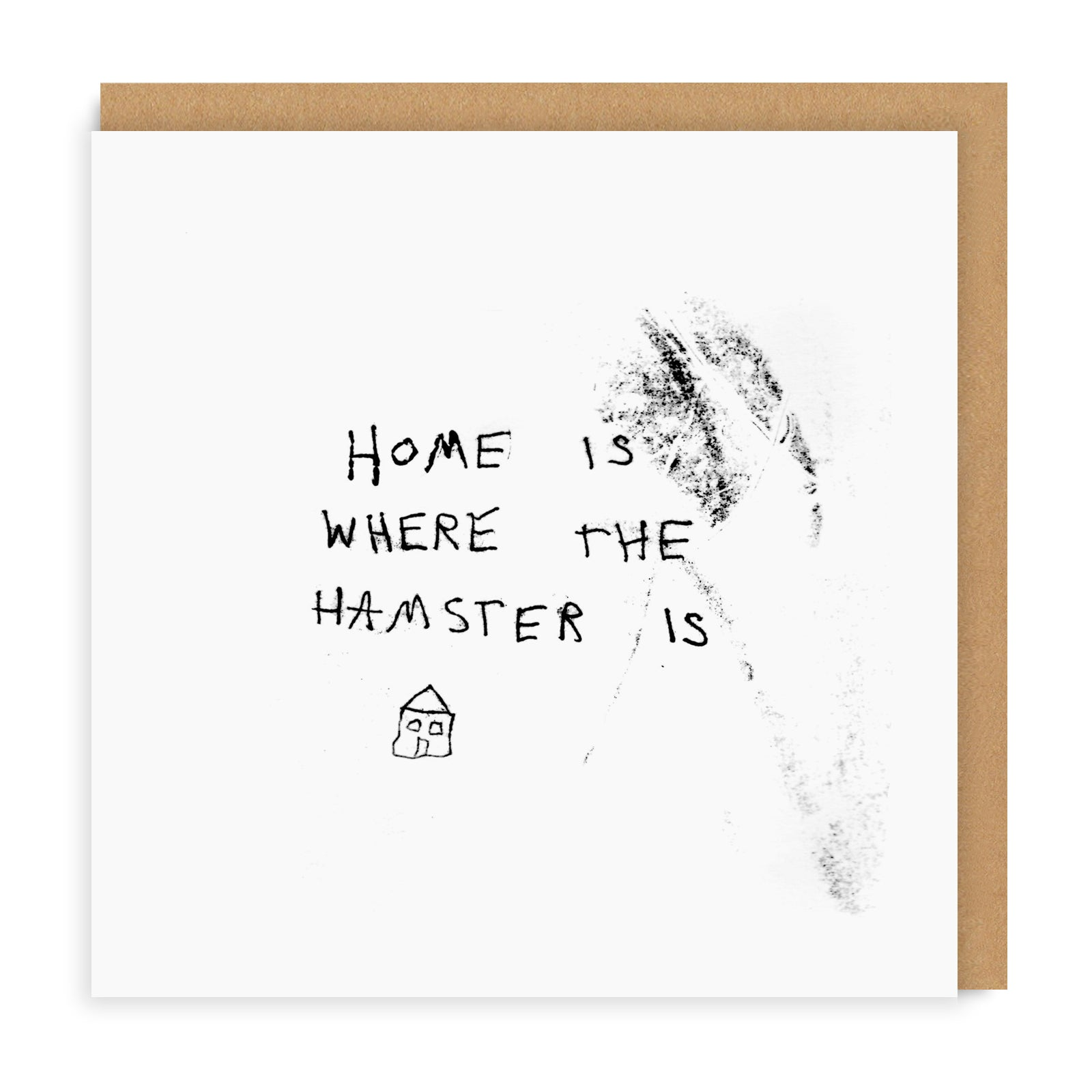 Hamster Square Greeting Card