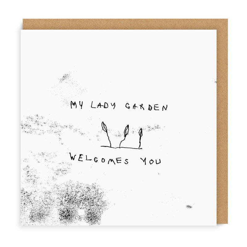 Lady Garden Square Greeting Card